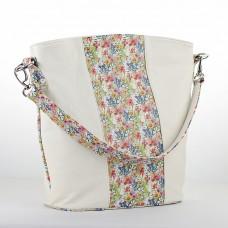 GEANTA PIELE CASUAL Alb Floral