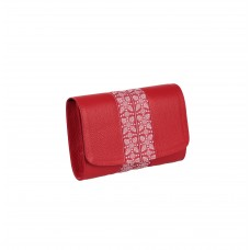 PLIC PIELE CLASIC Bizonat Rosu cu aplicatie rosie