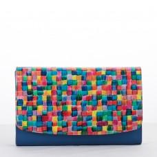 PLIC PIELE CLASIC Mozaic Albastru